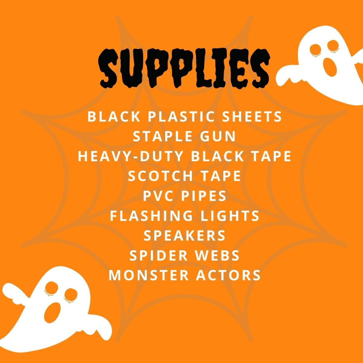 This is all you need for the perfect haunted house.
