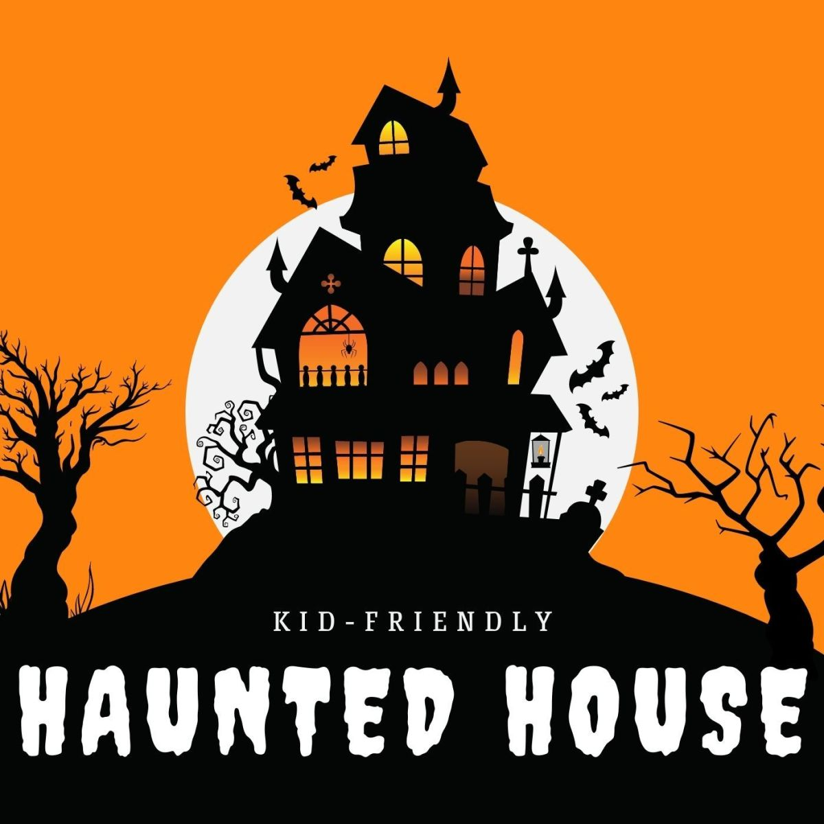 Follow these steps for a haunted house that your kids will love!