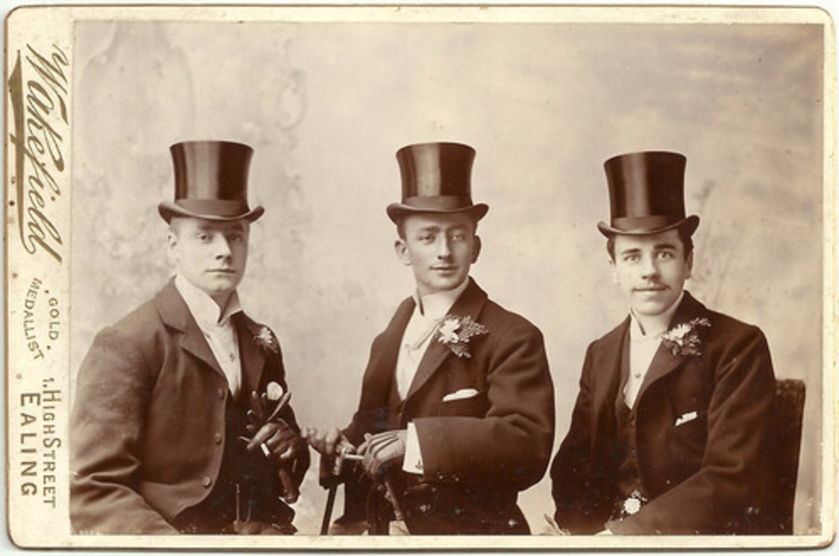 Unknown English gentlemen. Perhaps, a groom and his ushers.