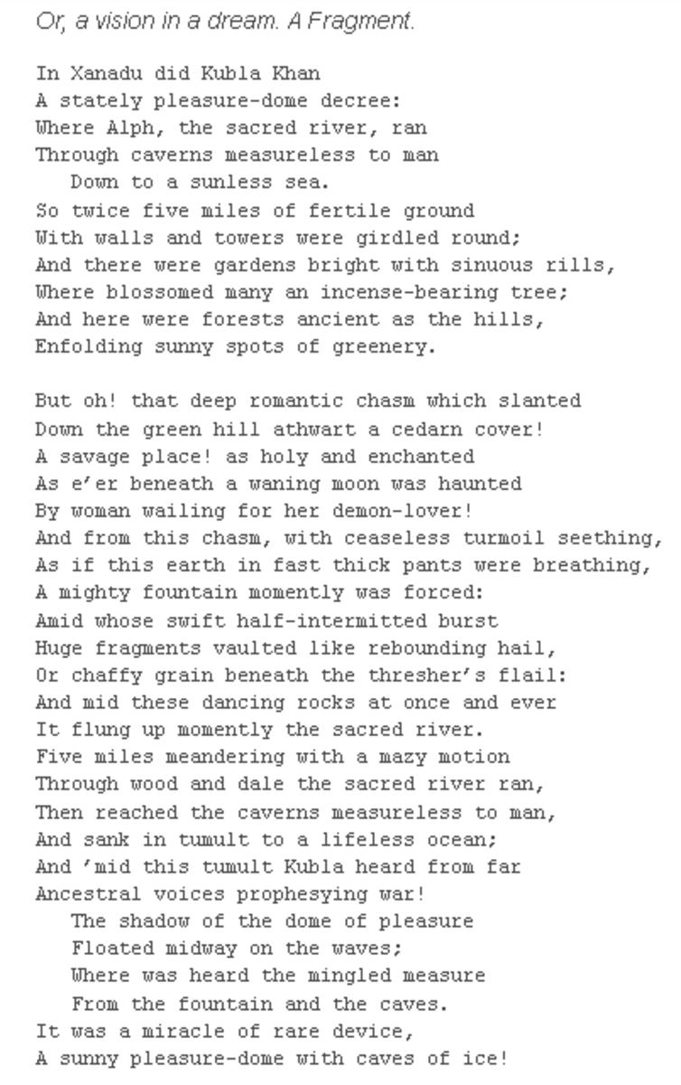 analysis-of-poem-kubla-khan-by-samuel-taylor-coleridge