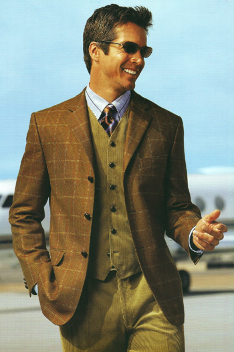 This isn't a suit in brown, but it gives a sense of how some of colors of the soil go together.