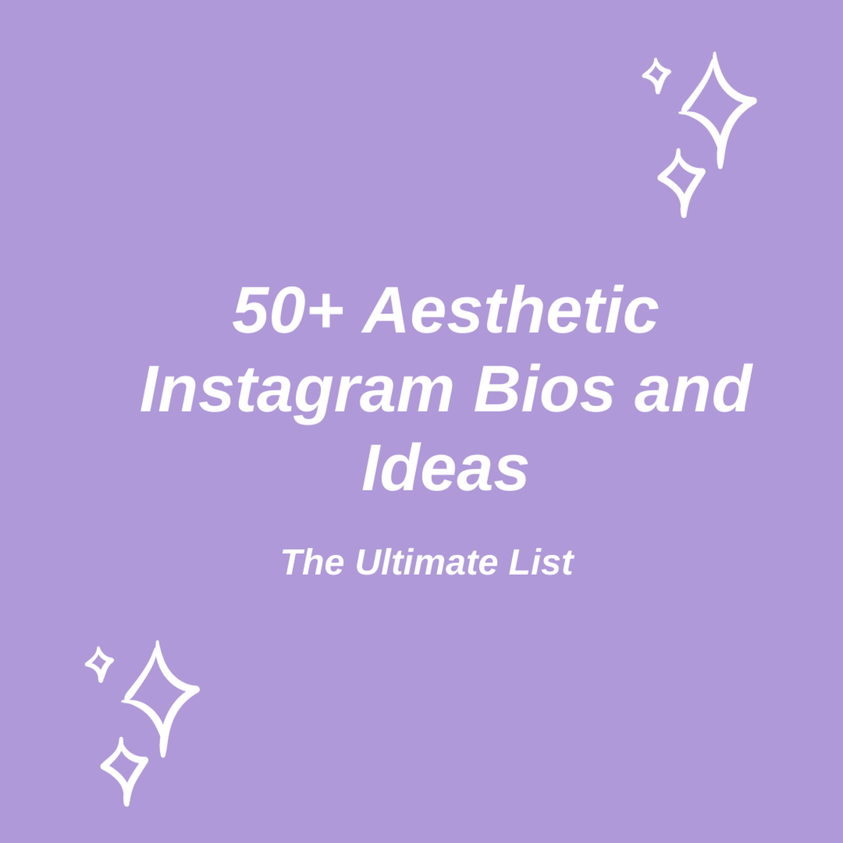 In this guide, we'll be taking a look at over 50 aesthetic Instagram bios and ideas!