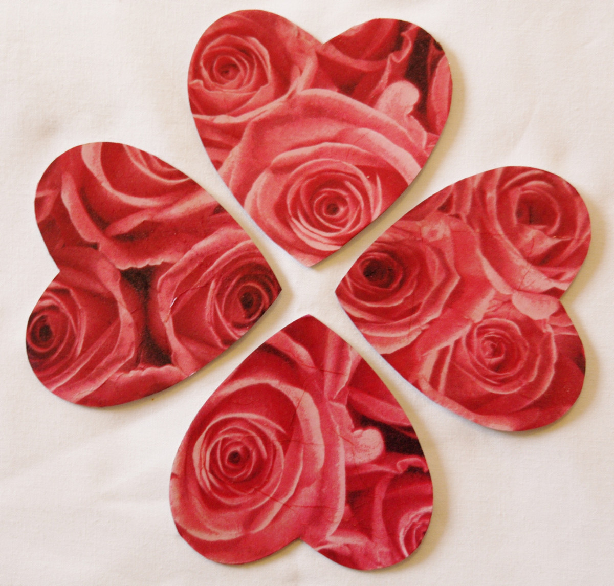 Use heart shaped coasters for your cocoa mugs to add a hint of romance to your decor!