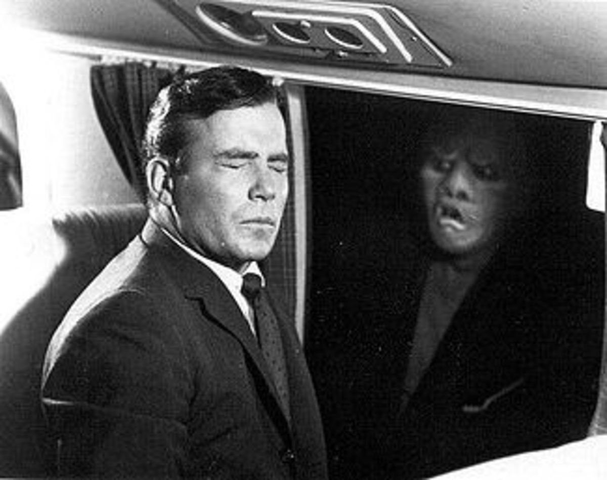 "Scene from ""Nightmare at 20,000 Feet""."