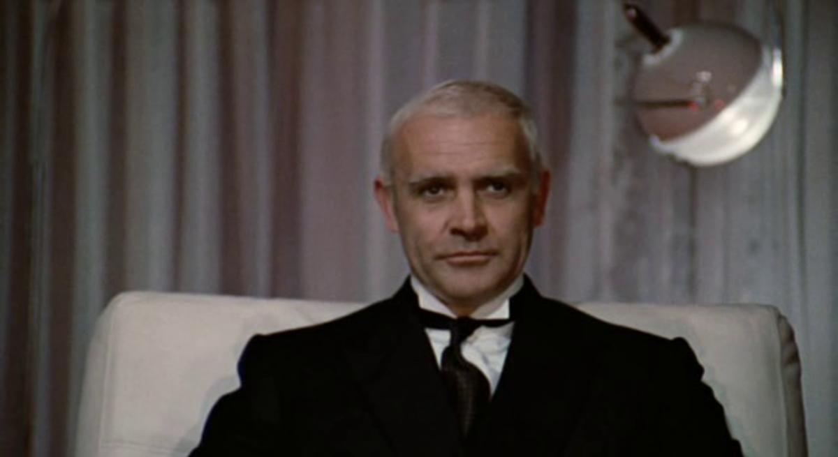 Sean Connery as Roald Amundsen. Screenshot from the movie