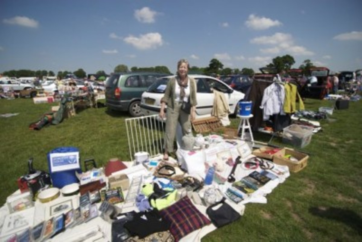 An Aladins' cave - you never know what your are going to find at a car boot sale!