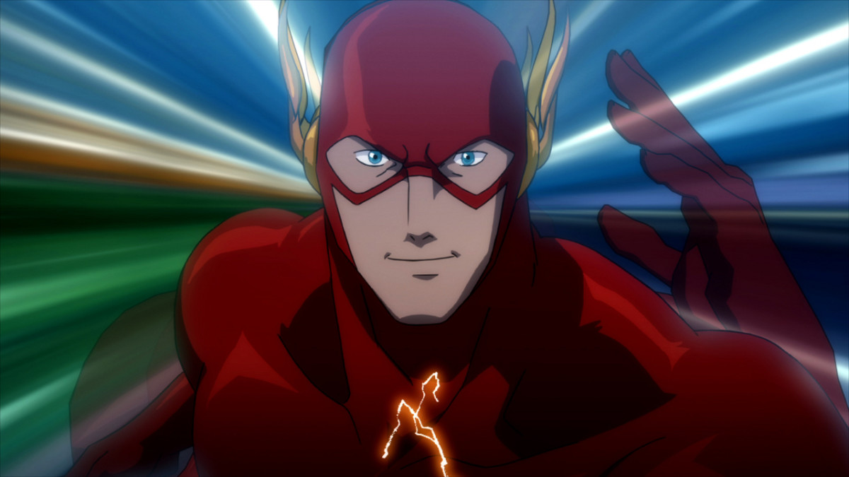 The Flash kicking it into overdrive and going into the Speed Force.