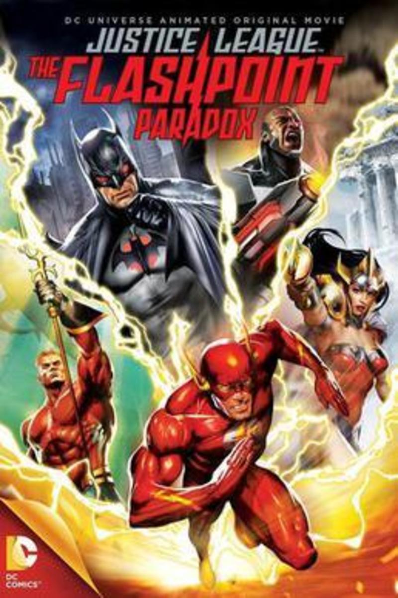 The promotional cover for the animated movie, Justice League: The Flashpoint Paradox.