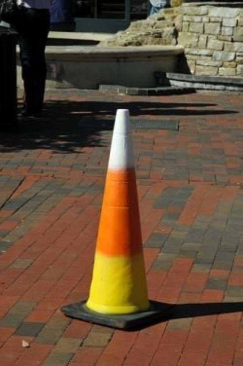Candy Corn Traffic Cone