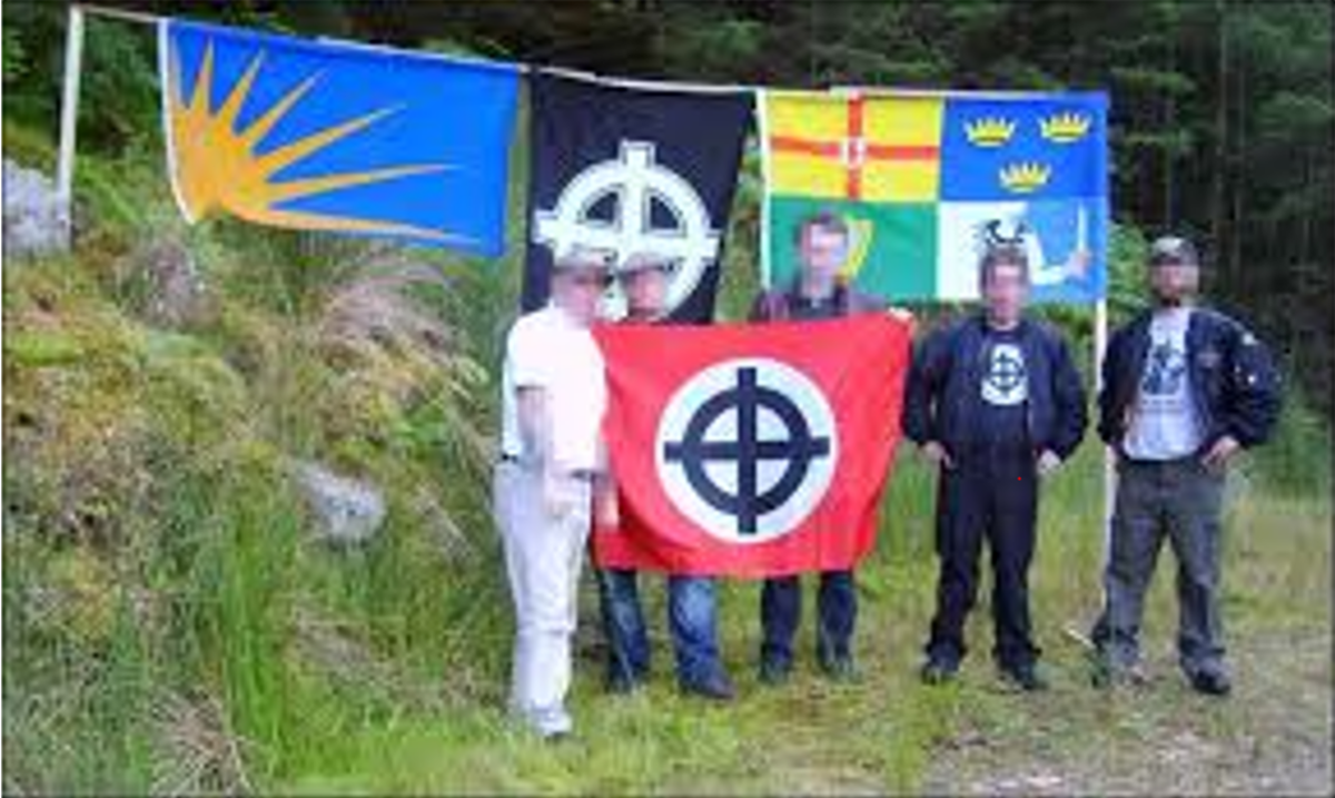 Their self-proclaimed 'Teutonic warrior' ethos instantly left them when confronted by anti-fascists.