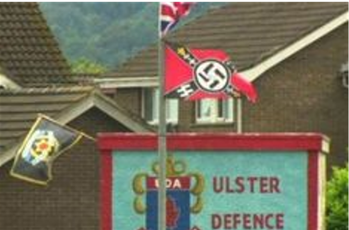 Nazi flags are very common in pro-British loyalist areas of the North of Ireland