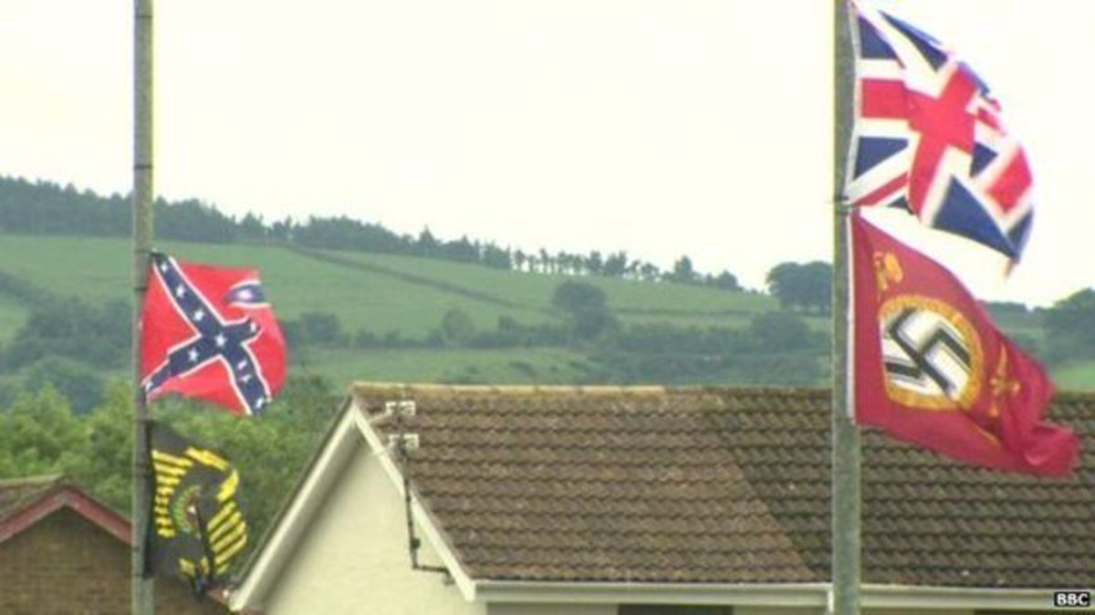 I spoke to a friend from the mid-west who has the commendable habit of ridding their area of Confederate flags by stealth who was shocked that those rags are flown even in loyalist areas of the North of Ireland,