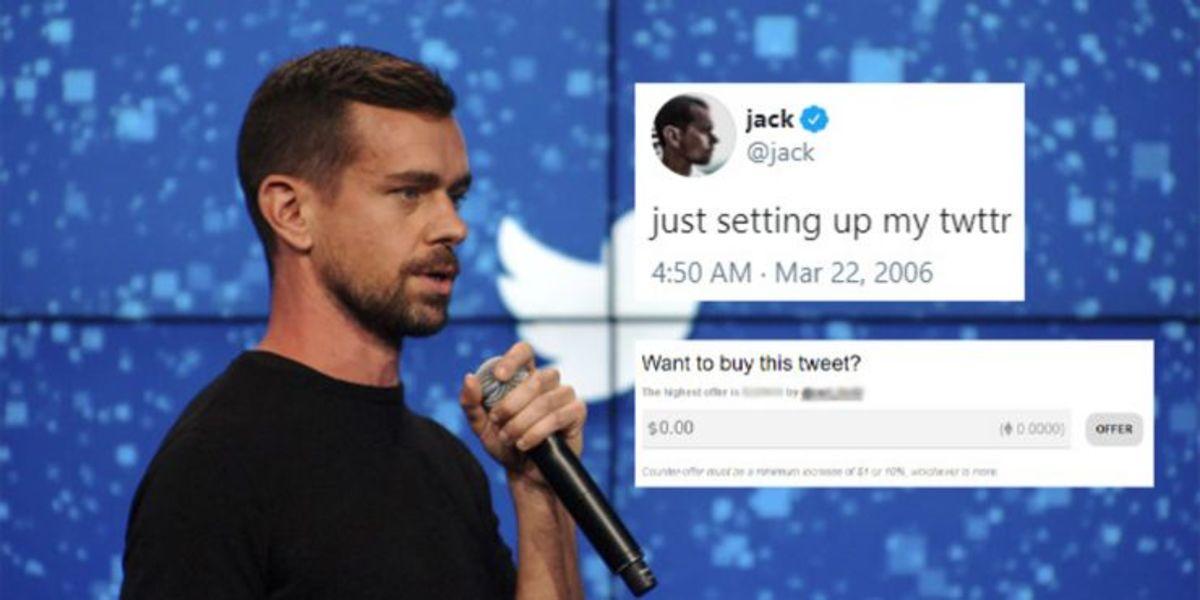 CEO jack Dorsey's first tweet