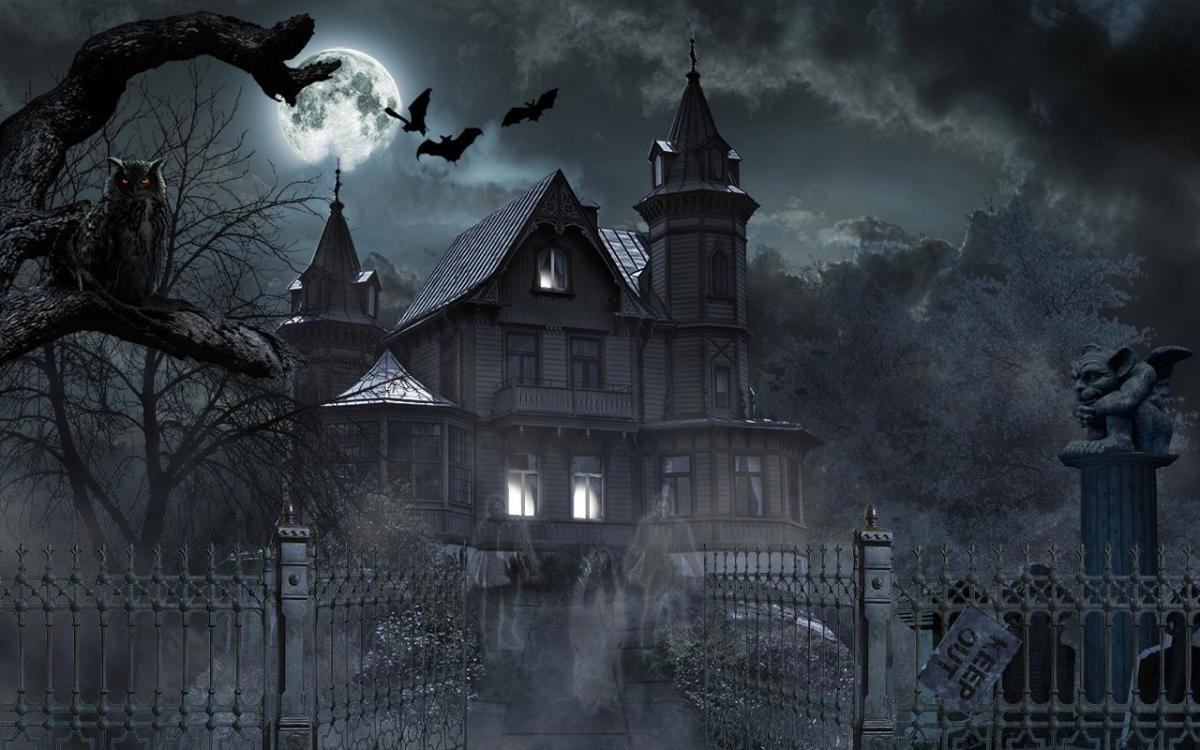 The manor is haunted by ghosts. It's not unexpected, but it doesn't end with just that.