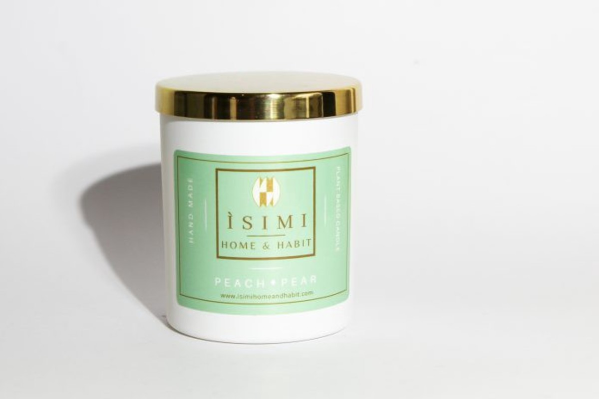Peach and Pear Scented Candle