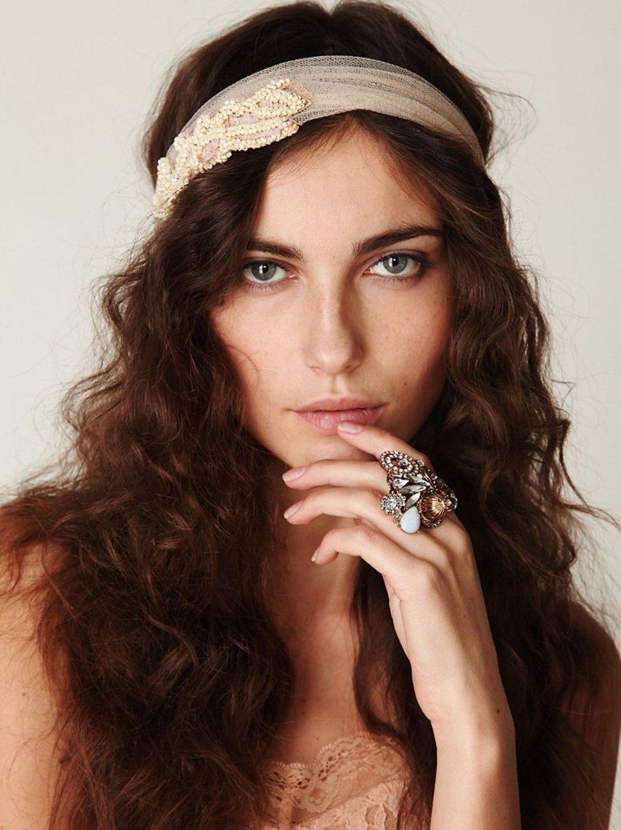 Mesh fabric headband