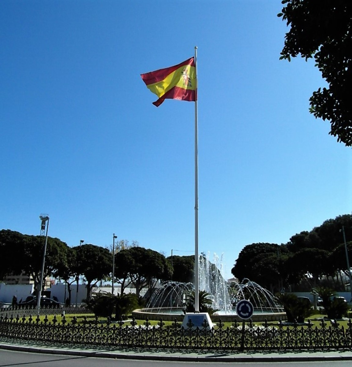 The roundabout near Torremolinos market.