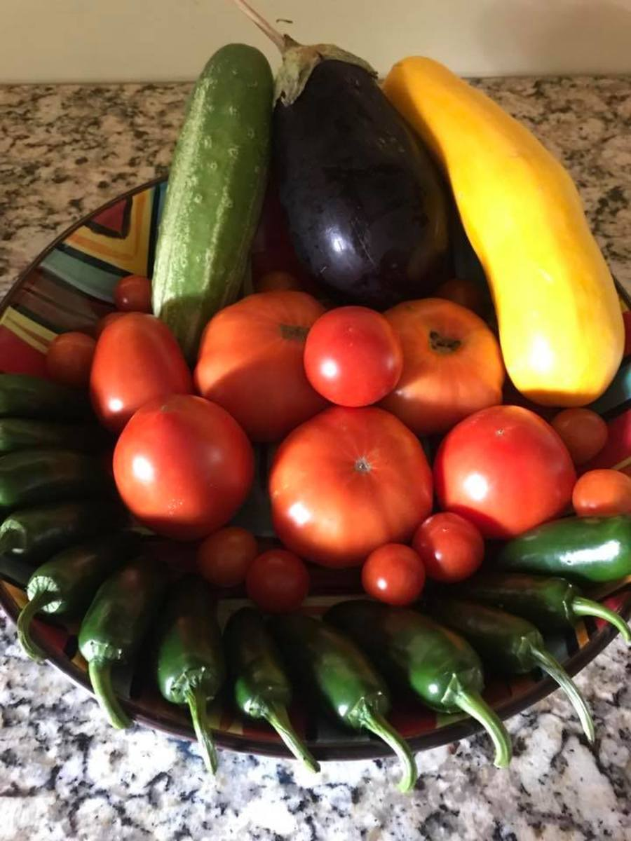 Natalie Nauer and her husband Tony work hard in their garden to produce a bountiful crop of delicious vegetables to eat in-season and can or freeze for the winter.