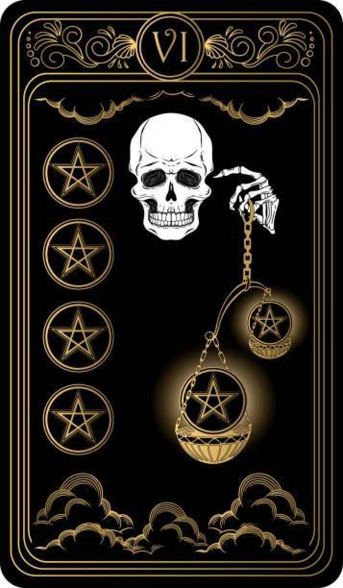 Eventually, things must come into a balance. Fairness, justice, and equality are persistent. The Six of Pentacles closes the wealth gap and redistributes fortunes.