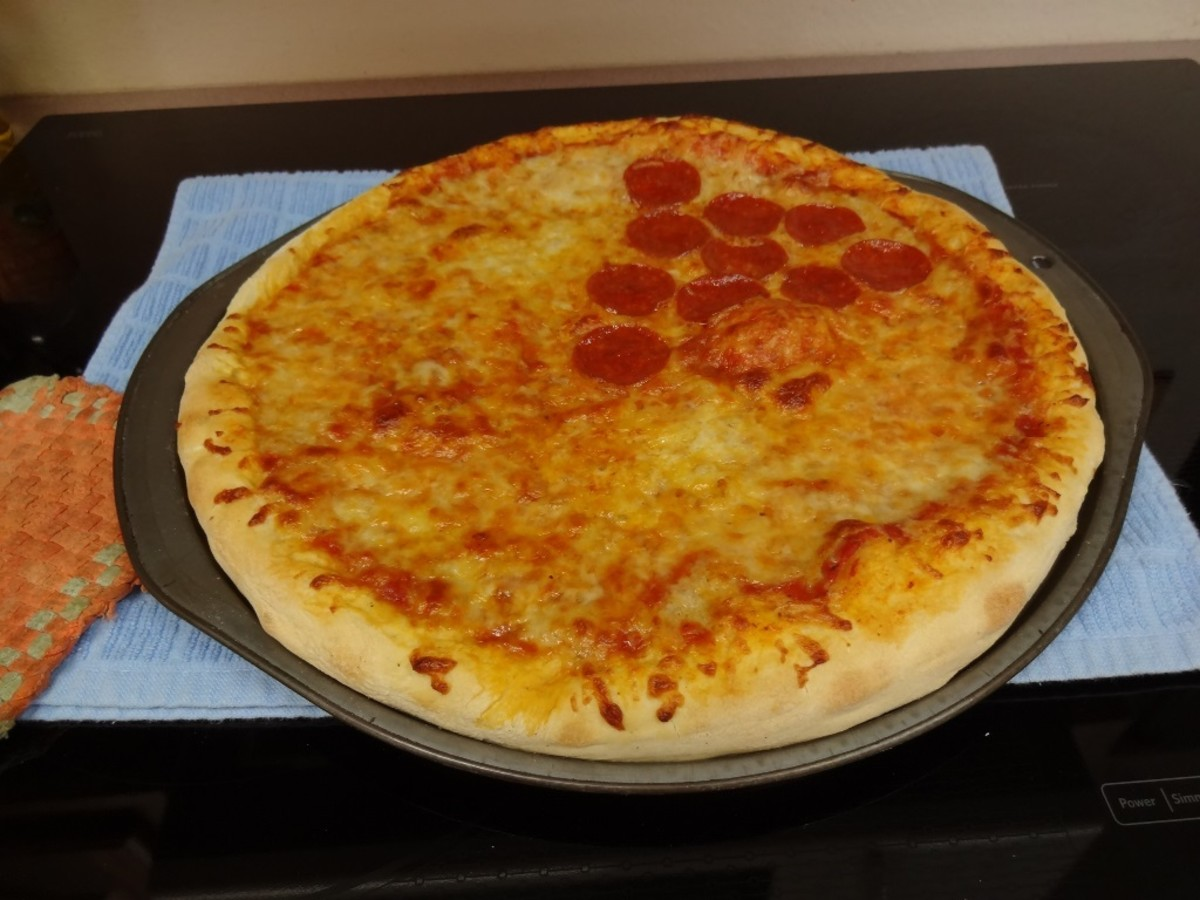 The hubby likes at least one slice with Pepperoni.