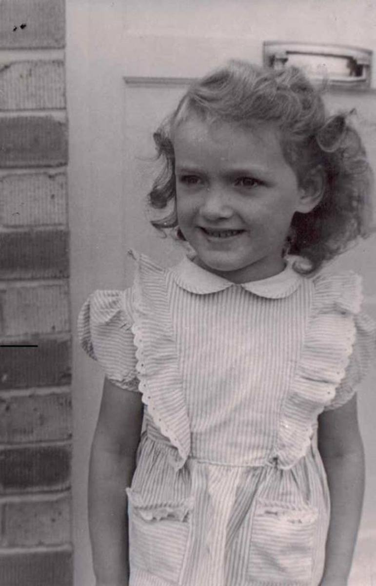Age 5, photographed by a travelling door-to-door photographer