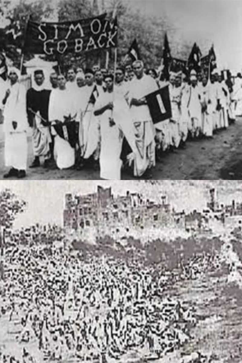 Gandhiji showed black flags to the Rowlatt Act and a huge massacre took place at Jallianwala Bagh.