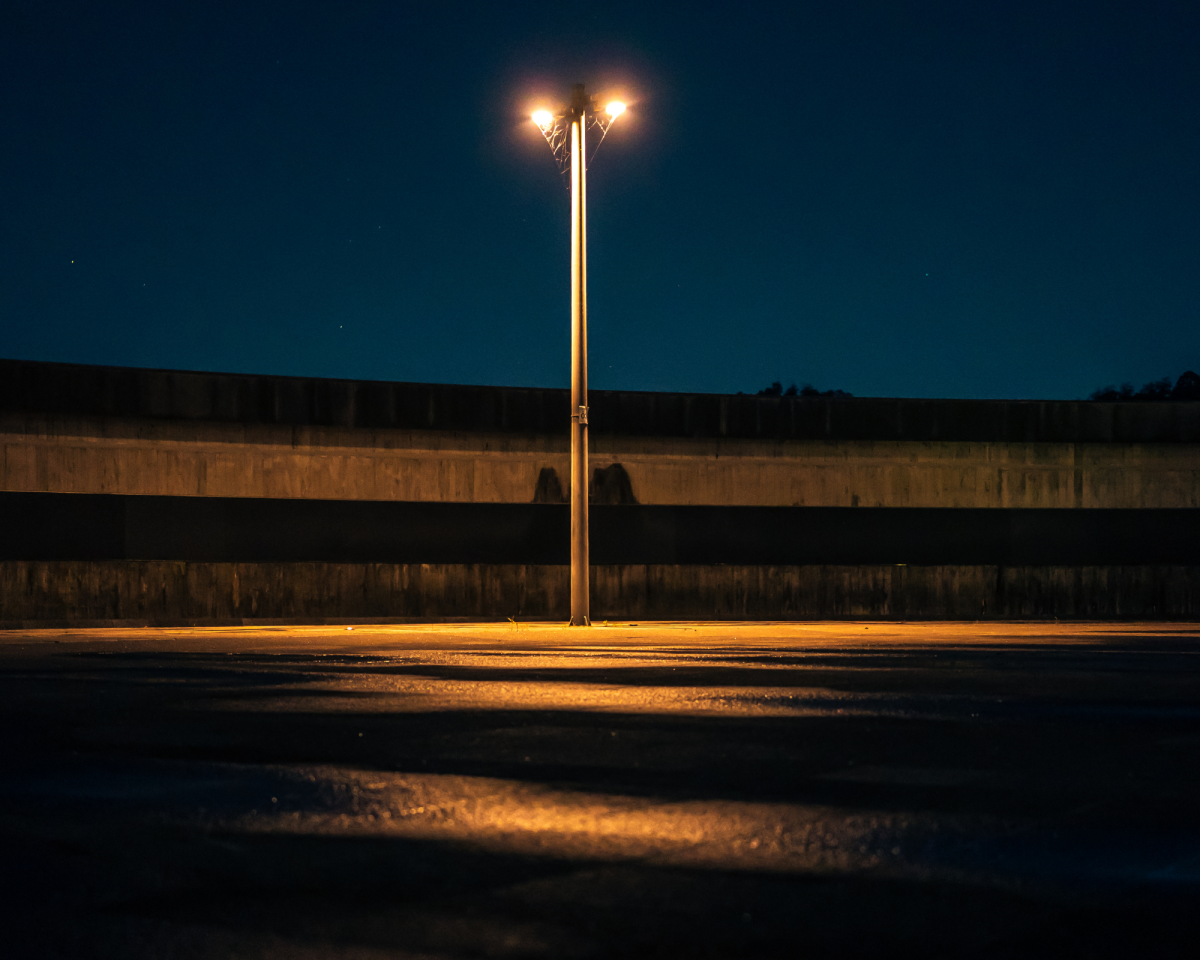 The darkness and The Street Light