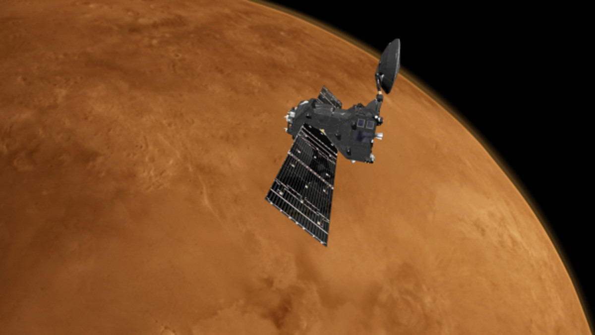 The Zephyr approaches Mars