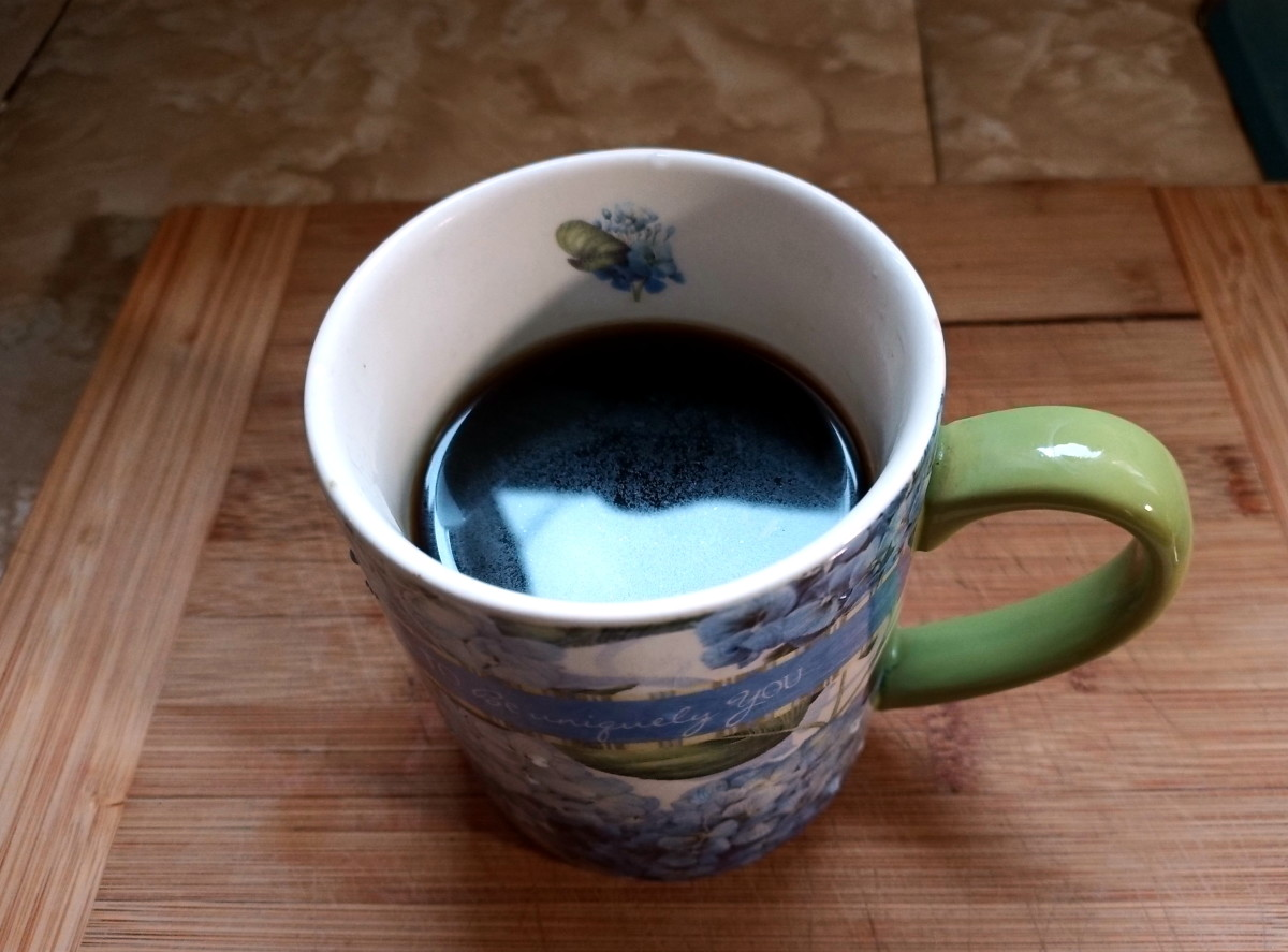 A mug full of excellent tasting coffee