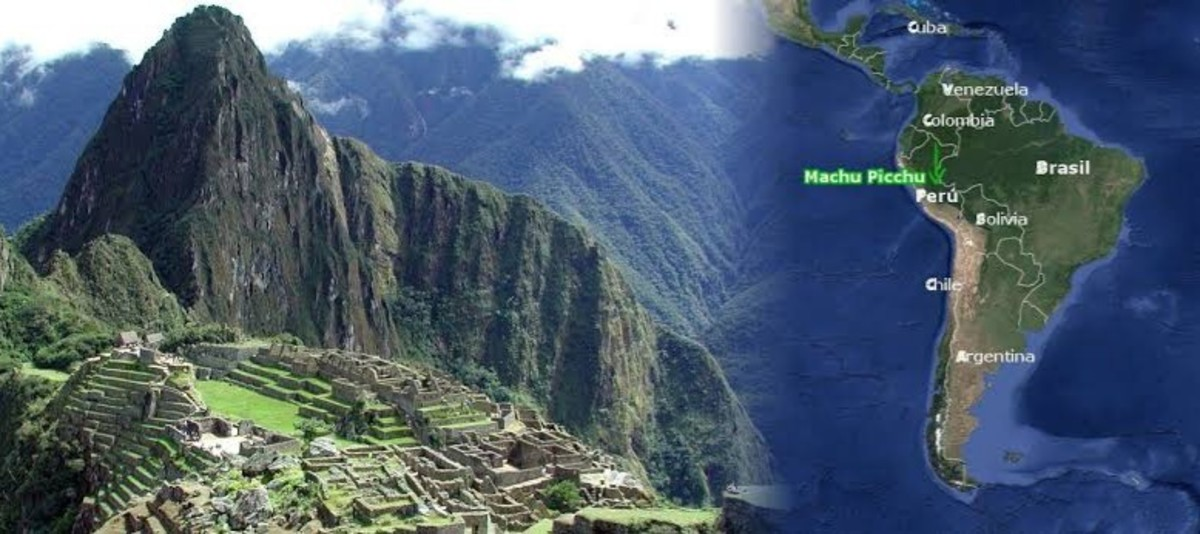Geographical location of Machu Picchu.