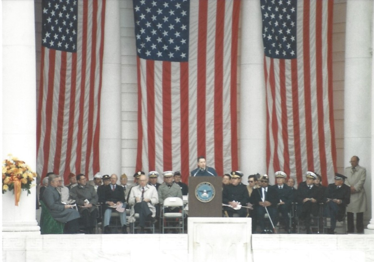 Secretary of Defense Casper Weinberger, Veteran's Day 1986.