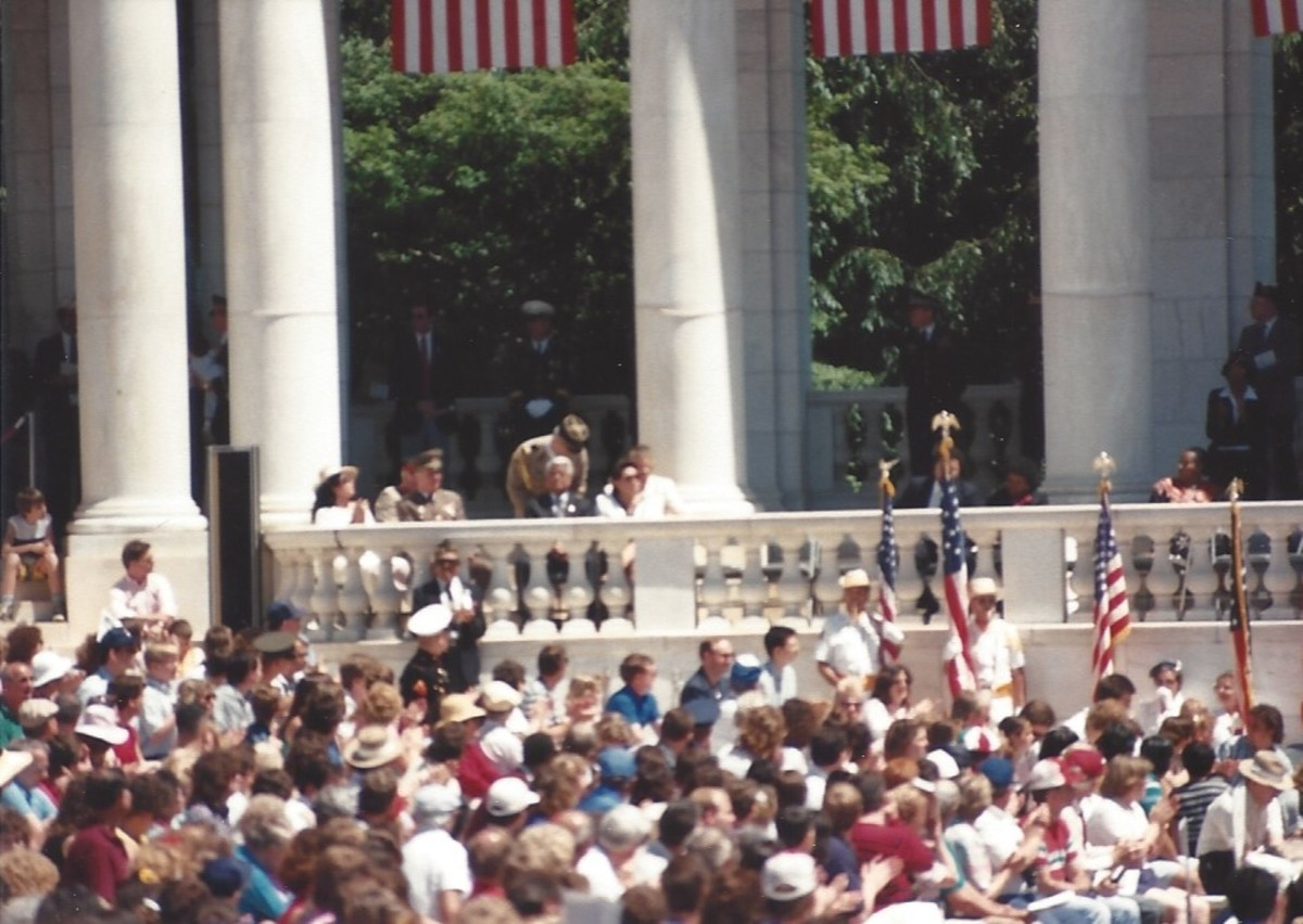 Memorial Day ceremony, May 1989.  The German Democratic Republic military attaché is in attendance.