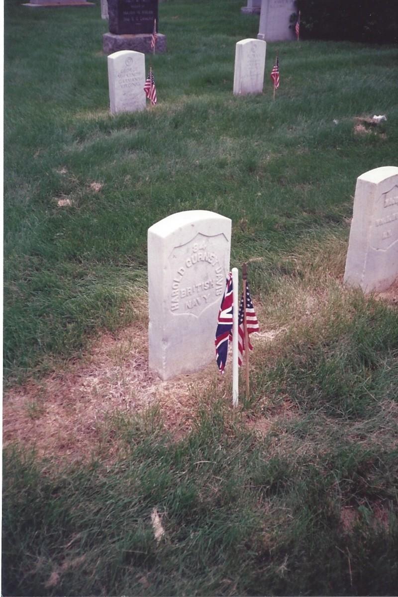 Grave of Harold Davis, British Navy, Memorial Day 1989.
