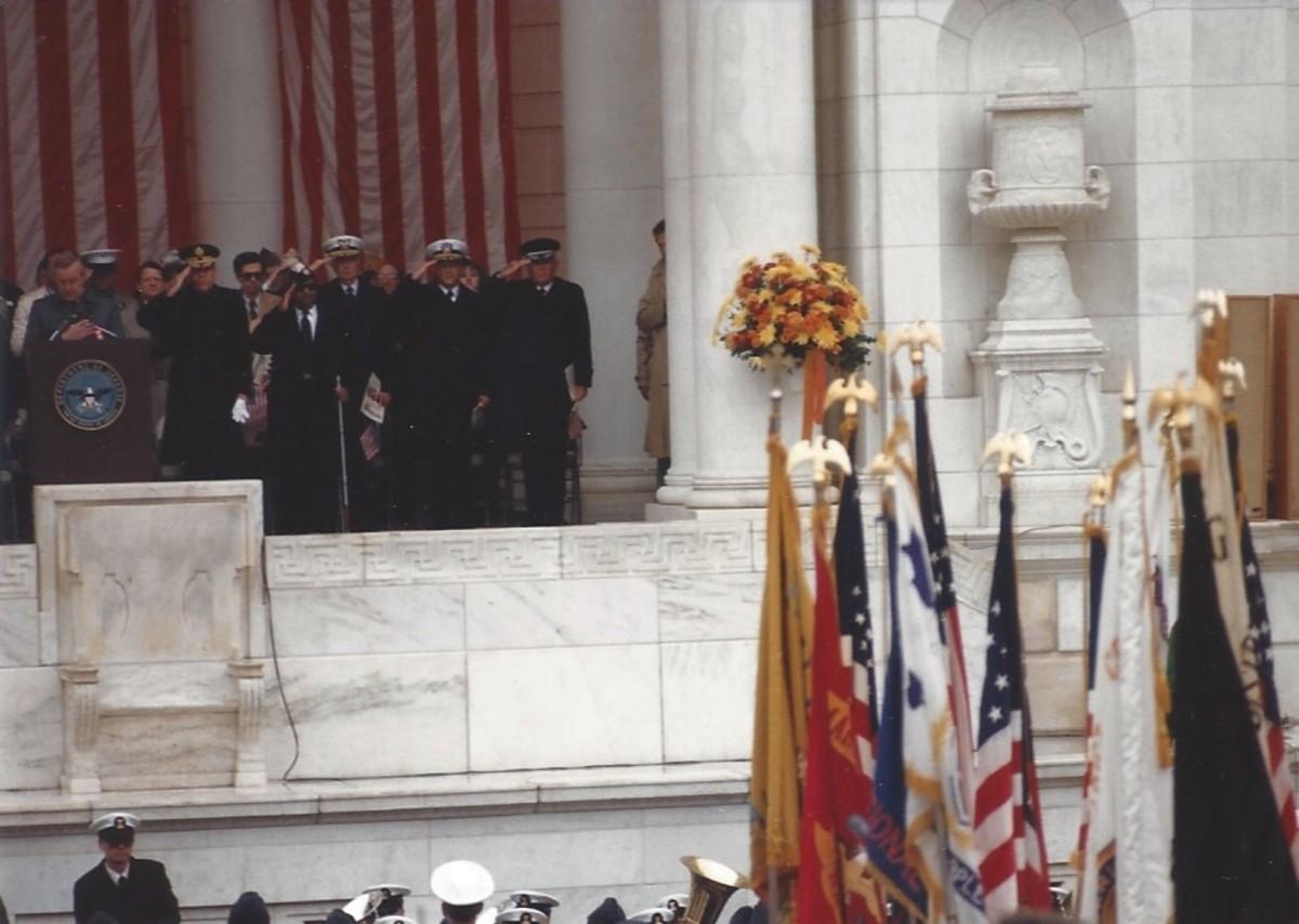 Veteran's Day ceremony, Veteran's Day 1986.