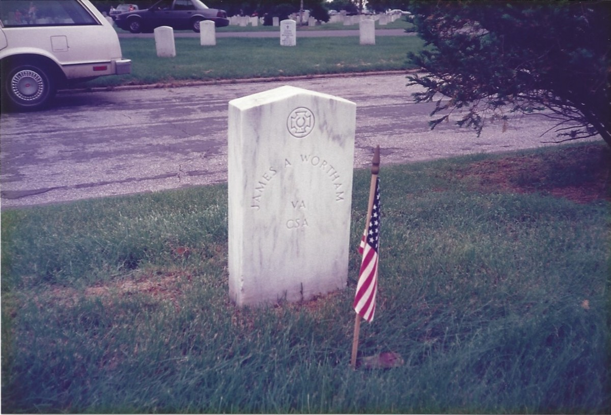 Grave of a Confederate soldier, Arlington National Cemetery, 1990