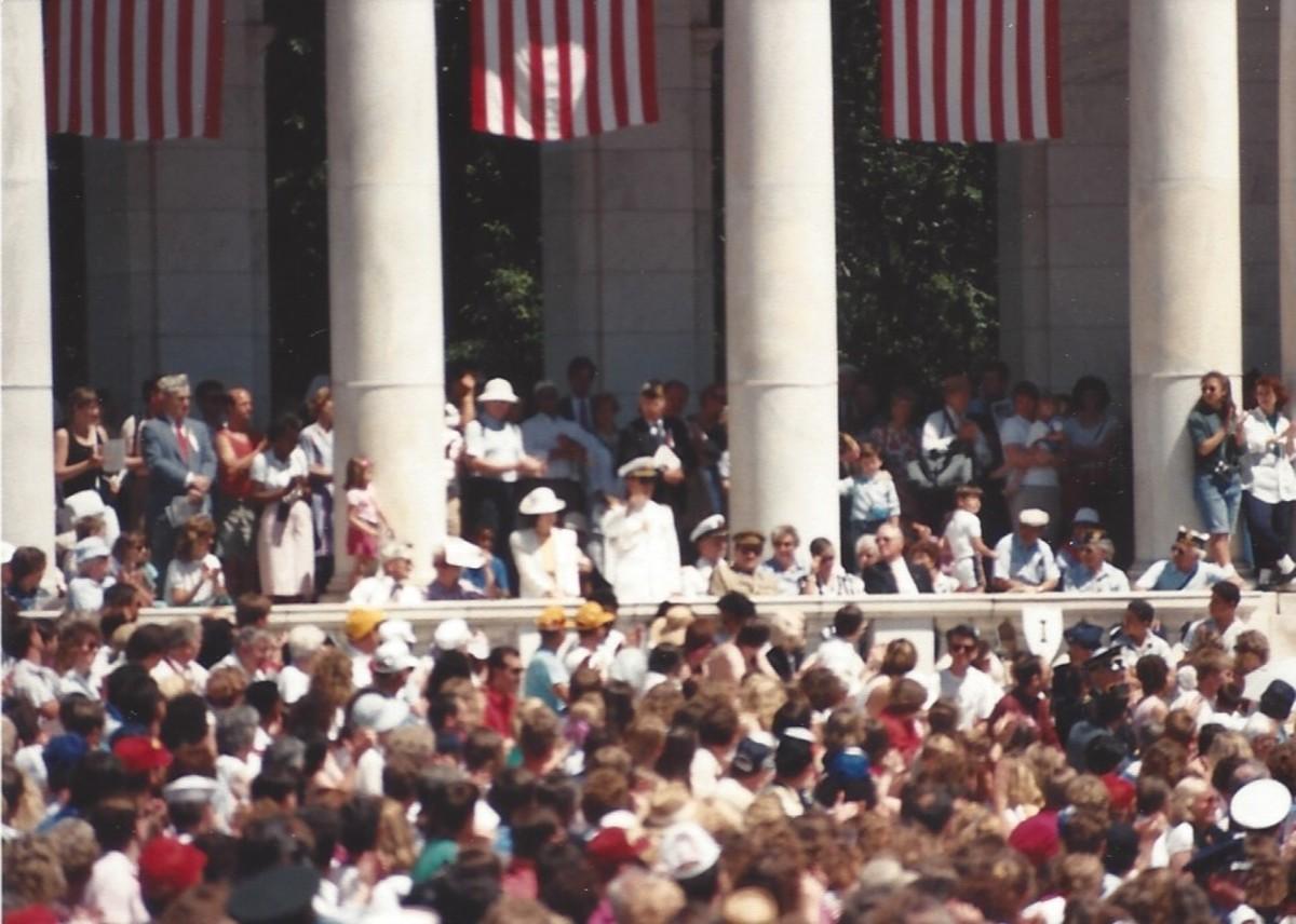 Memorial Day ceremony, Arlington National Cemetery, May 1989