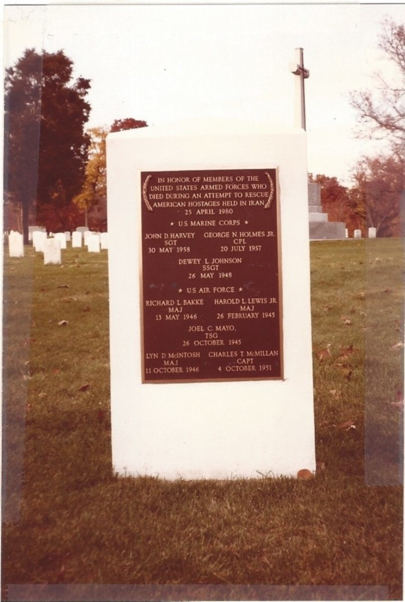 Monument to the Iran Hostage Rescue Mission, Arlington National Cemetery.
