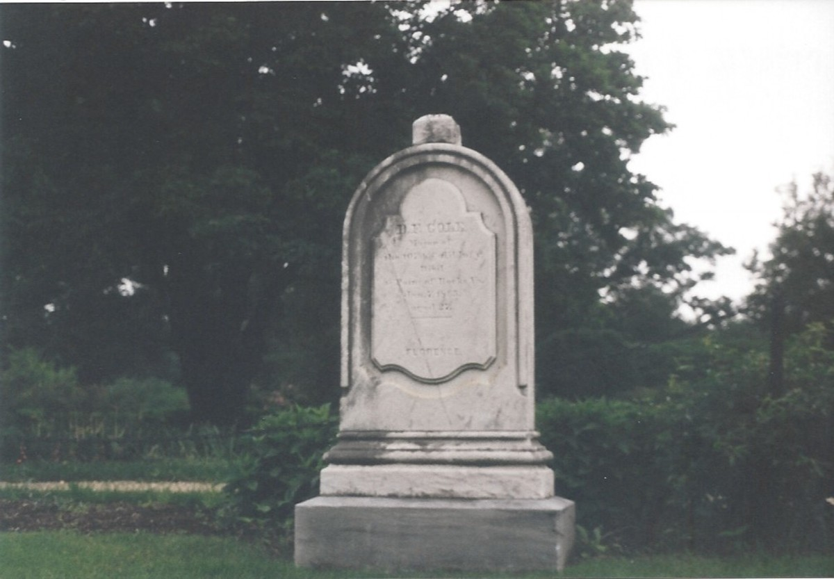 Tombstone at Arlington National Cemetery.
