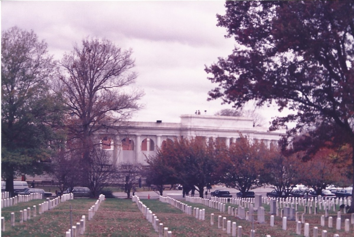 Arlington National Cemetery, the Amphitheatre is in the background.