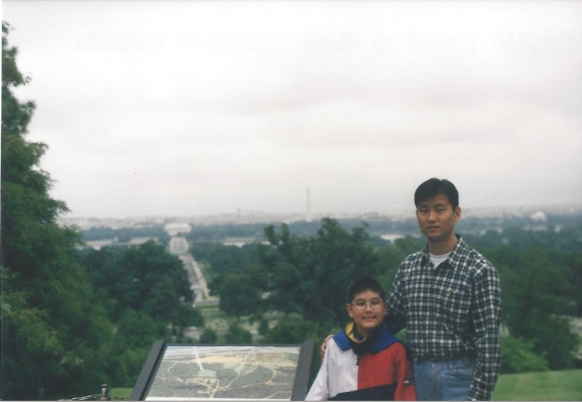 Arlington National Cemetery with Washington, DC in the background, 2001.