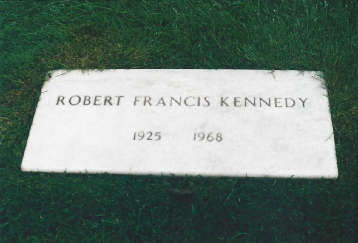 Gravestone of Senator Robert F. Kennedy,