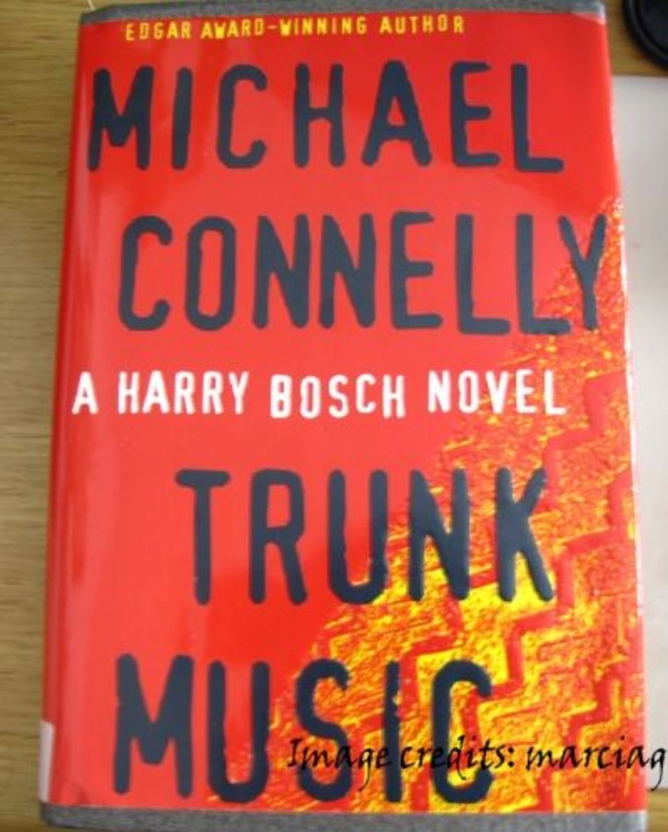 My tattered and battered copy of Trunk Music - I love it when I can find books with a different cover than what Amazon gives us!