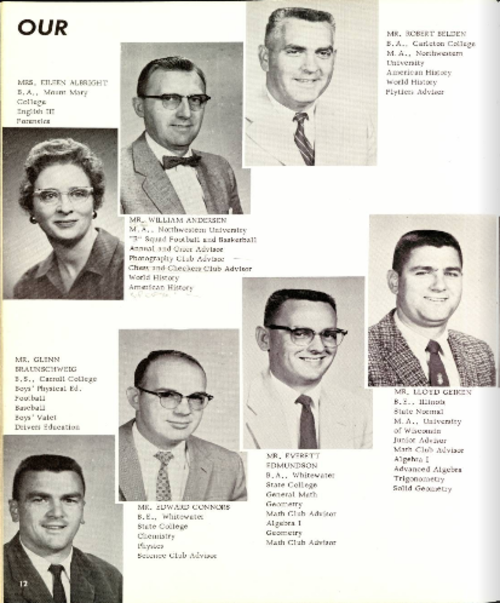 Mr. Belden is top right.  Mr. Geiken is bottom right and Connors third from right.  Coach B is bottom left.