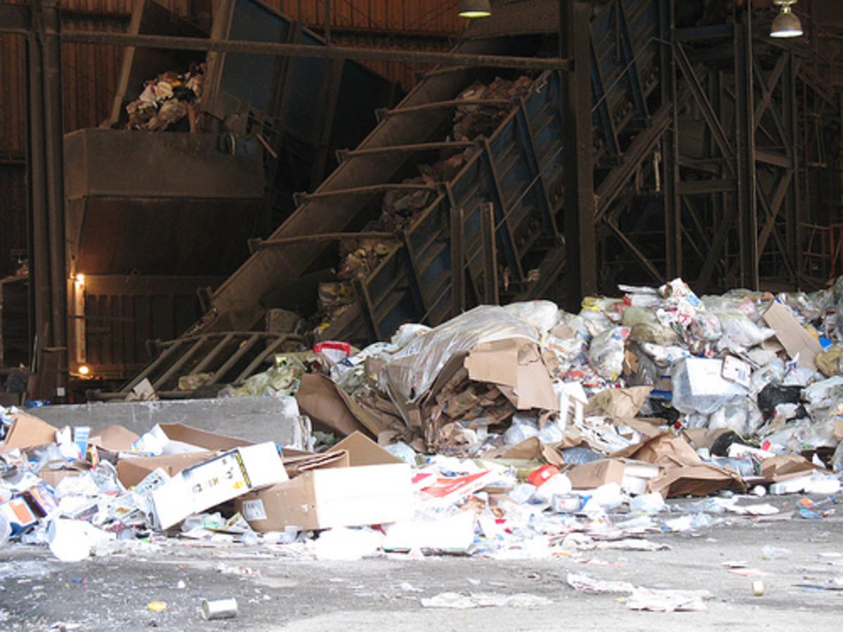 An open dump