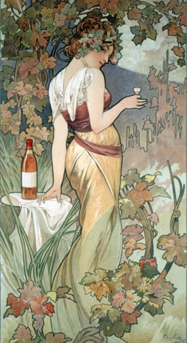 Advertising poster for Cognac by Alfons Mucha.