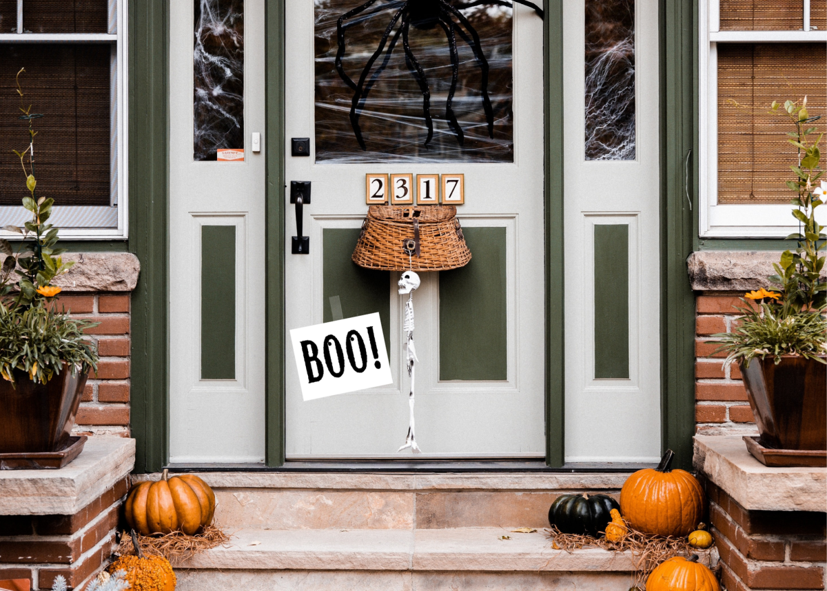 """Leave a """"Boo!"""" sign on your neighbor's door so everyone knows their house has already been boo'd."""