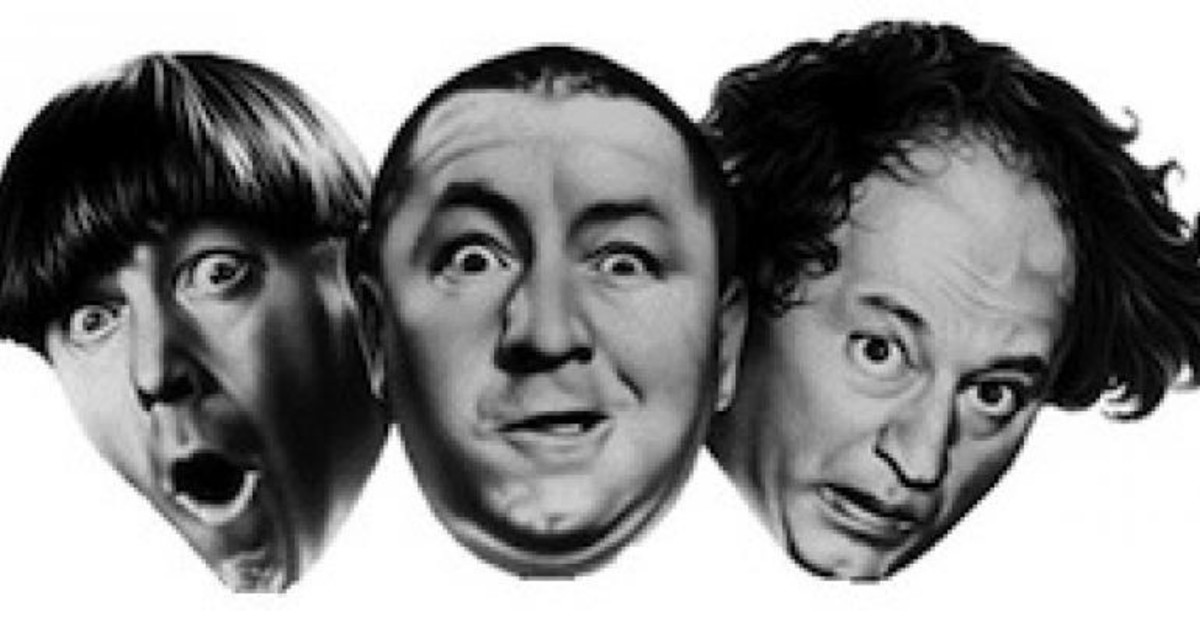 Three Men of Slapstick Humor: Moe Howard, Curly Howard, and Larry Fine = The Three Stooges