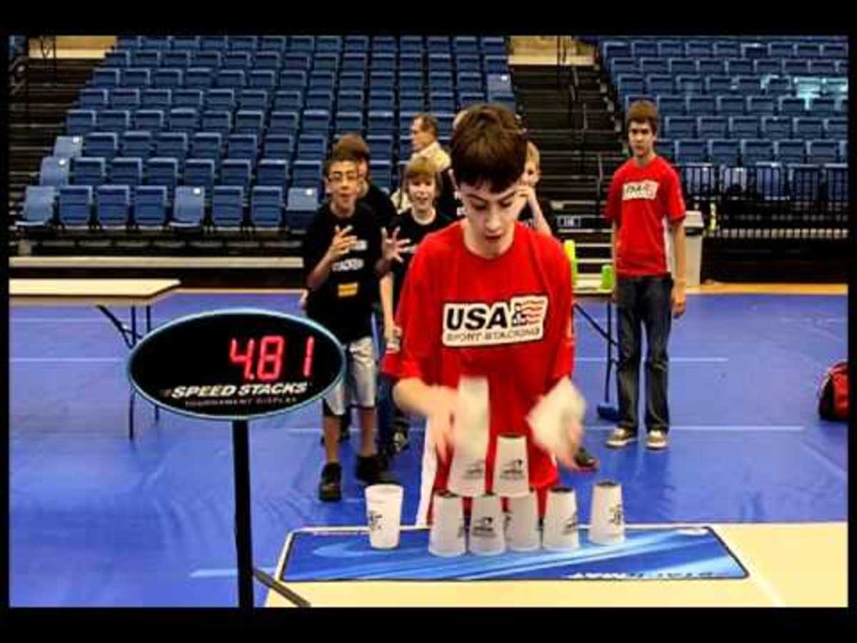 Sport Stacking Is A Game That Require Athletic Skill