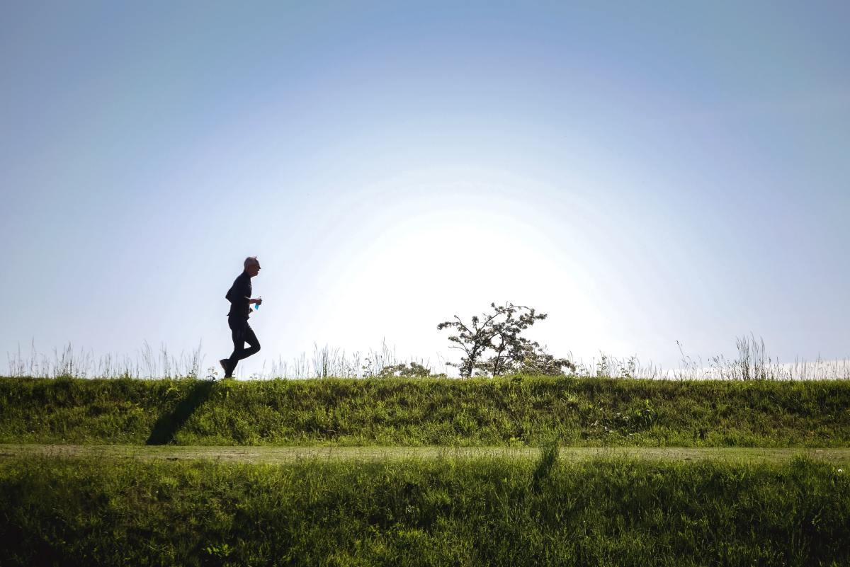 Solo runner in Kastellet, Copenhagen