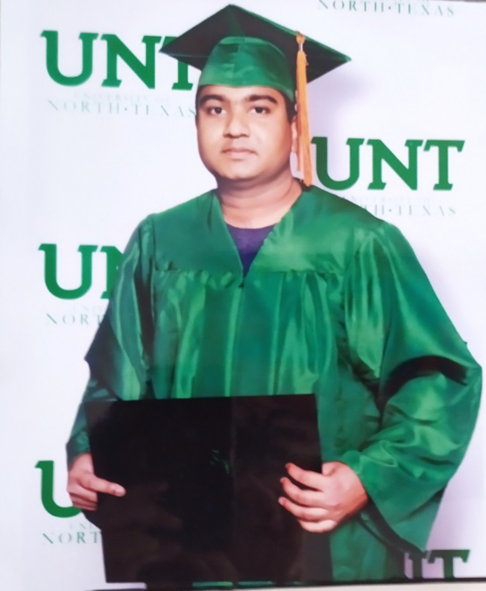 Pic: My Brother Graduating from the University of North Texas (UNT), USA